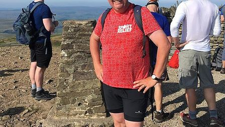 Cllr Drye at the top of the Yorkshire three peaks