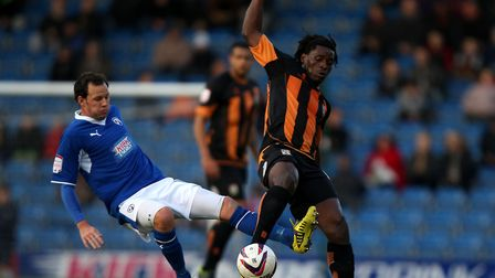 Clovis Kamdjo, seen in action for Barnet in 2012, has signed for St Albans City. Picture: PA Wire