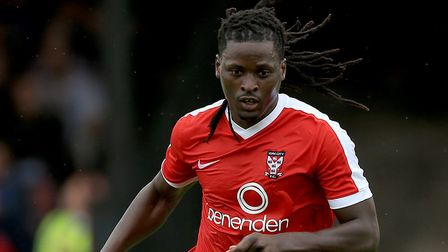 New St Albans City signing Clovis Kamdjo was most recently at York City. Picture: Nigel French/PA