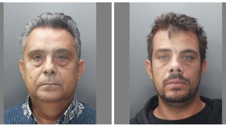 Shane Nedic Snr (left) and his son Shane Jnr conned their victims out of £250,000. Picture: Herts po