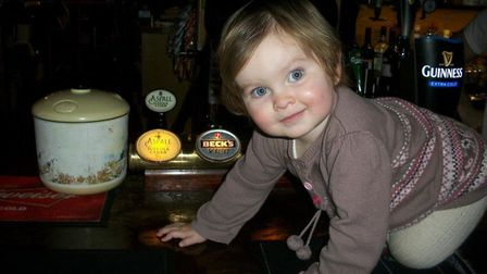 Jenna and Stuart Johnson's children have grown up in the pub. Picture: Courtesy of Jenna Johnson