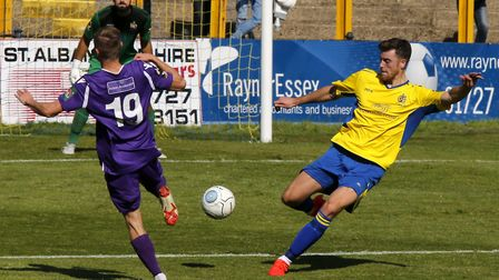 New St Albans City signing Lewis Knight will make an immediate return to East Thurrock United. Pictu