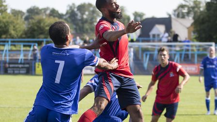 Gary Wharton made his St Neots Town debut at Halesowen. Picture: CLAIRE HOWES
