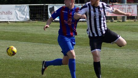 Tom McGowan had St Ives Town's best chance as they were beaten by Coalville. Picture: LOUISE THOMPSO