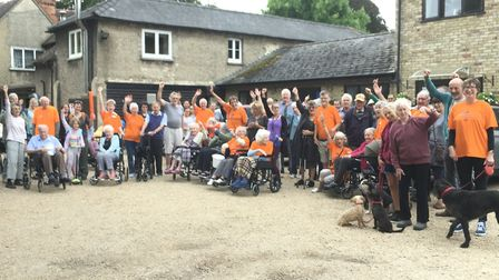 The Maycroft residents, staff, helpers and friends went on a charity walk. Picture: Lynn Ward