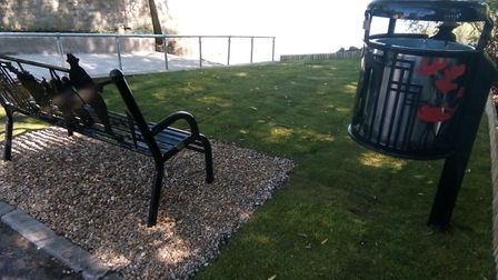 The new slipway and seating area in Earith. Picture: CONTRIBUTED