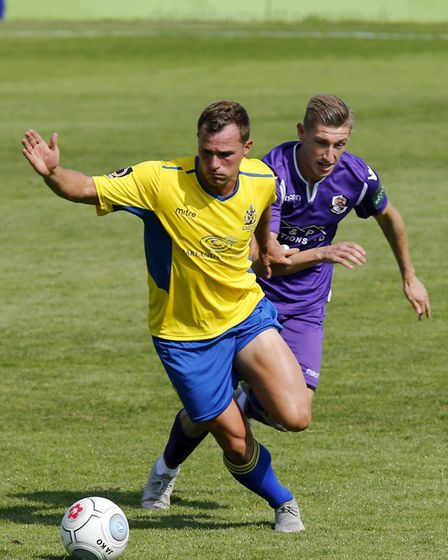 Ben Herd in action for St Albans City against Dartford. Picture: LEIGH PAGE