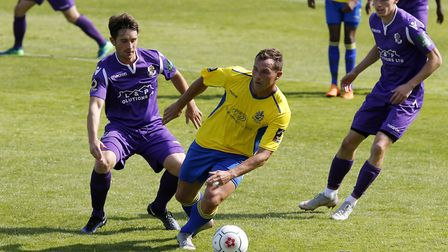 Ben Herd in action against Dartford. Picture: LEIGH PAGE
