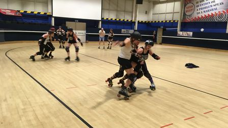 The Hell's Belles at Roller City in Welwyn Garden City. Picture: Archant