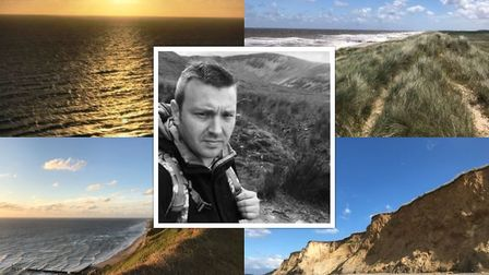 Jonathan Smith completed a coastal walking challenge for Dreamdrops. Picture: CONTRIBUTED