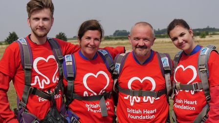 Norman Hamilton's family completed a 10,000-feet skydive in memory of their beloved dad and grandfat