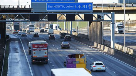 Traffic on the M1. Picture: Danny Loo.