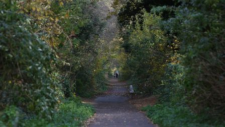 The stretch of the Alban Way which passes underneath London Road heading towards Camp Road. Picture: