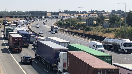 Traffic on the M25. Photo: BCH Road Policing.