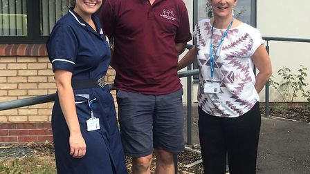 Andrea Hunt, lead chemotherapy nurse, Damien Whales, and Linda Hall, lead cancer nurse. Picture: CON