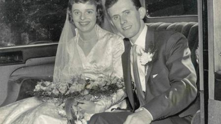 Betty and Brian on their wedding day