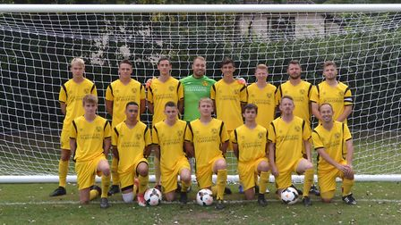 Hemingfords United, pictured ahead of a recent game, are back row, left to right, Harry Sargent, Dal