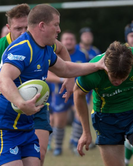 Mickey Drake was among the St Ives try-scorers against Huntingdon. Picture: PAUL COX
