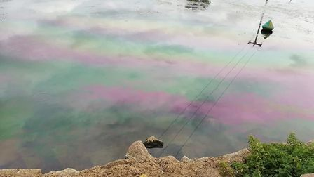 The pollution in the river in Huntingdon PICTURE: JOE SIMONS