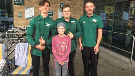 Amy at the Morrisons fundraiser