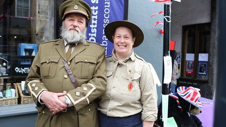 St Albans Time Turner Festival - Donald Clarke and Annette Payne representing the 1918 scouts.Pic