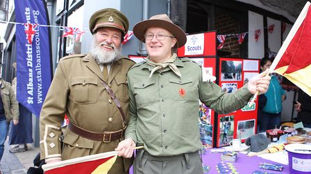 St Albans Time Turner Festival - Donald Clarke and Anthony Witton representing the 1918 scout group.