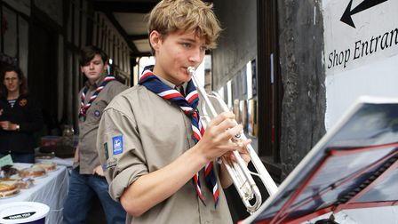 St Albans Time Turner Festival - Tom Stewart playing the trumpet.Picture: Karyn Haddon