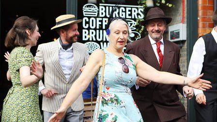 St Albans Time Turner Festival - Jive Swing entertain the crowds.Picture: Karyn Haddon