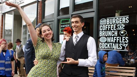 St Albans Time Turner Festival - Chris and Clair from Jive Swing entertain the crowds.Picture: Ka