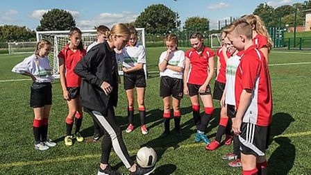 The opening of the new pitch at Roundwood Park School. Picture: Steve Davey