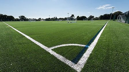 The opening of the new pitch at Roundwood Park School.. Picture: Steve Davey