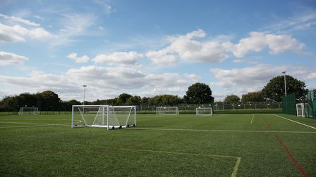 The opening of the new 3G pitch at Roundwood Park School. Picture: DANNY LOO