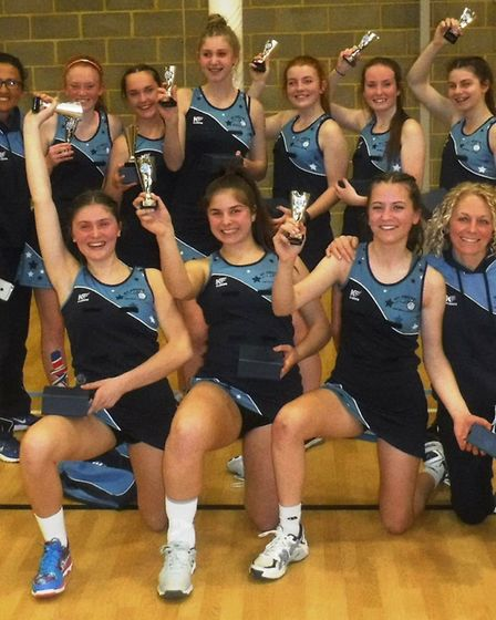St Neots Netball Club's successful Rockets youth side.