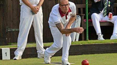 Colin Bates and fellow Papworth man Richard Fisher were pipped in the final of the Men's Pairs.