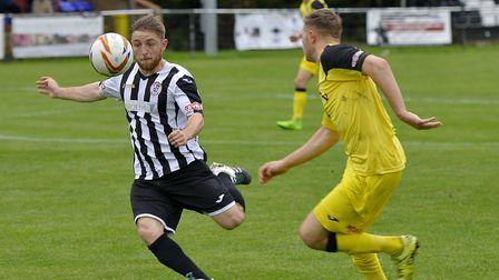 Ben Seymour-Shove bagged both St Ives Town goals in their fine win at Royston. Picture: DUNCAN LAMON