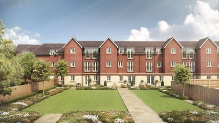 A CGI image of how the rear of Lowe House, Knebworth, will look on completion