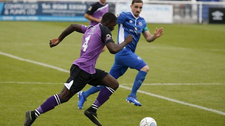 Percy Kiangebeni in action against Billericay Town. Picture: Leigh Page