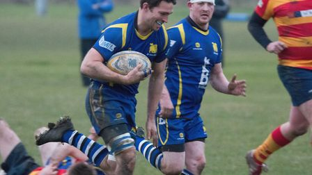 Ollie Bartlett scored one of the St Ives tries in their friendly win at Ely. Picture: PAUL COX