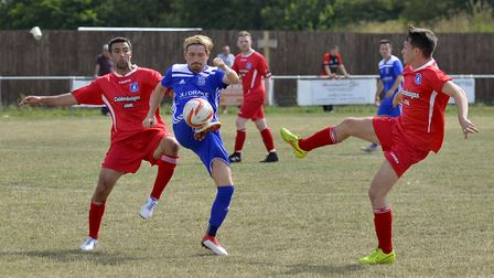 Simon Unwin was one of the goalscorers in Godmanchester Rovers' largest FA Cup win. Picture: DUNCAN