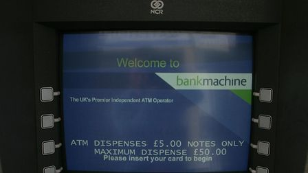 A cash machine.