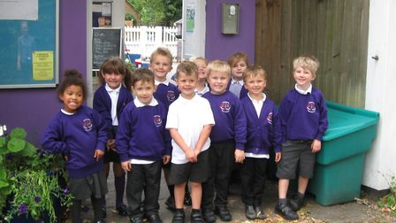 Barley and Barkway pupils now wear a purple uniform. Picture: Barley and Barkway Federation