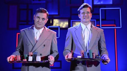 Mathew Horne and Ed Speleers star in the stage adaptation of the film Rain Man at the Cambridge Arts