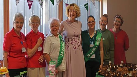 Staff and volunteers at Hinchingbrooke Hospital hosted a coffee morning
