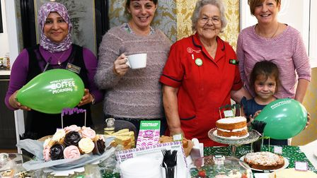 Sherifa Kamel, Helen Potts, Maureen Prior, Tracey Burgess, and Mia Burgess. Picture: ARCHANT