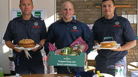 Jamie Harker, Rob Austin and Dale Gibson at Huntingdon Fire Station. Picture: ARCHANT