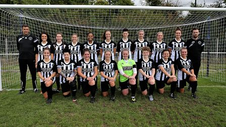 Sam Mardle (back row, right) has left his post as manager of Colney Heath Ladies. Picture: Jim Whitt