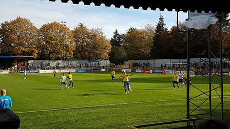 St Albans City battled it out with Bath City at Clarence Park in the National League South on non-le