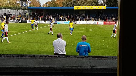 St Albans City took on Bath City at Clarence Park in the Vanarama National League South on non-leagu