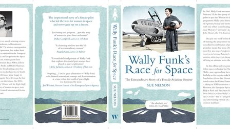 The cover and back of Wally Funk's Race to Space.