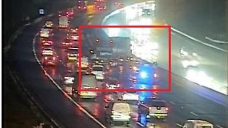 There are delays on the M25 in Hertfordshire following a crash. Picture: Highways England